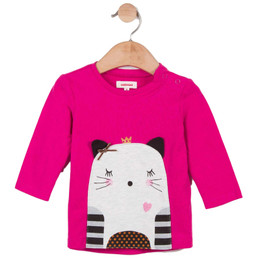 Catimini Graphic City All Fire And Flame Cat Top