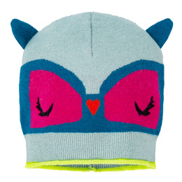 Deux Par Deux Owl You Need Is Love Knit Hat