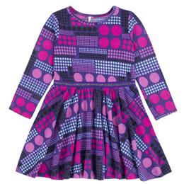 Deux Par Deux Circle Of Friends Brushed Jersey Printed Dress