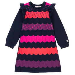 Deux Par Deux Mandala Therapy Striped Sweater Knit Dress