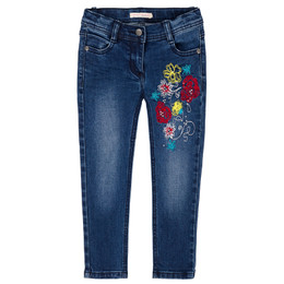 Deux Par Deux A Cat In A Hat Embroidered Denim Pant