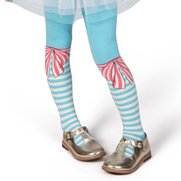 Paper Wings Tights - Bow Stripes