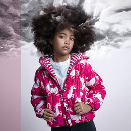 Paper Wings  Hooded Puffer Jacket - Unicorns