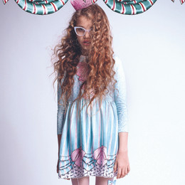 Paper Wings Gathered Tee Dress - Frills & Spills