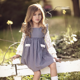 Mustard Pie Vintage Violet Alice Dress - Grey Dot (*Top Sold Separately*)