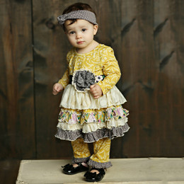 Mustard Pie Vintage Violet Lily 2pc Tunic Set - Vintage Violet (*Now up to 6X!*)