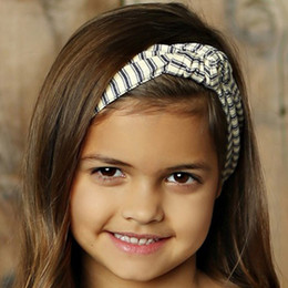 Little Prim Emmie Headband - Ticking Stripe