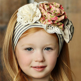 Little Prim Lilly Headband - Ticking Stripe