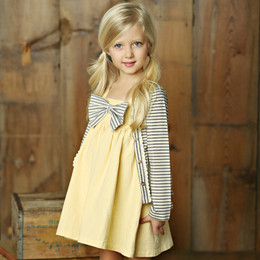 Little Prim Lola Dress - Butter (*Cardigan Sold Separately*)
