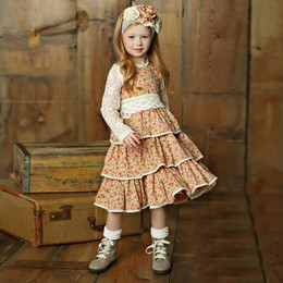 Little Prim Felicity Dress - Rose Garden (*Lace Top Sold Separately*)