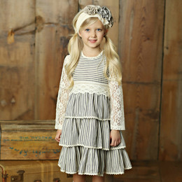 Little Prim Felicity Dress - Ticking Stripe (*Lace Top Sold Separately*)