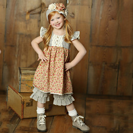Little Prim Adelaide Dress - Rose Garden (*Lace Top Sold Separately*)