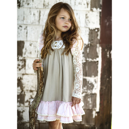 Little Prim Genevieve Dress - Petal (*Lace Top Sold Separately*)