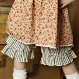 Little Prim Addy Goucho - Ticking Stripe