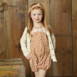 Little Prim Pearl Romper - Rose Garden (*Cardigan Sold Separately*)