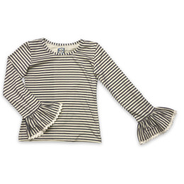 Little Prim Elodie Top - Ticking Stripe