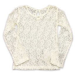 Little Prim Lilly Top - Vanilla Lace