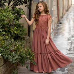 Joyfolie  Macy Dress - Rust