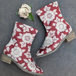 Joyfolie Wren Boots - Red Floral