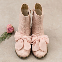 Joyfolie Wren Boots - Blush Bow