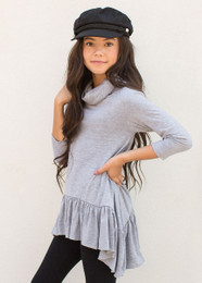 Joyfolie Brentley Top - Gray