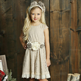 Mustard Pie Holiday Eloise Dress (*Sash Included!*) - Bisque