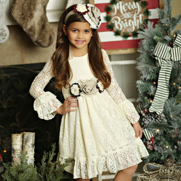 Mustard Pie Holiday Lizette Dress (*Sash Included!*) - Vanilla