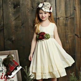 Mustard Pie Holiday Mabel Dress (*Sash Included!*) - Vanilla