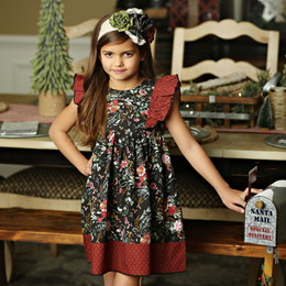 Mustard Pie Holiday Alice Dress - Winter Floral