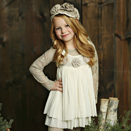 Mustard Pie Holiday Bryn Tunic - Vanilla (*Lace Top Sold Separately*)