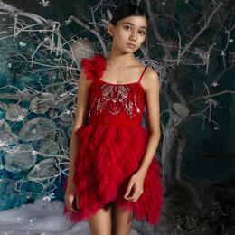 Tutu Du Monde   Once Upon A Holiday Cherry Delight Tutu Dress - Cherry