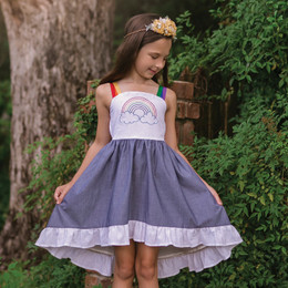Evie's Closet Rainbow Hi/Lo Dress