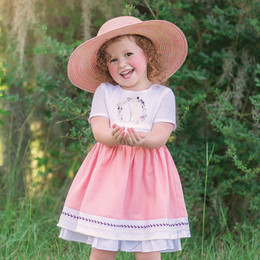 Evie's Closet Coral Bunny Dress
