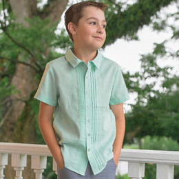 Evie's Closet Boy's Mint S/S Shirt