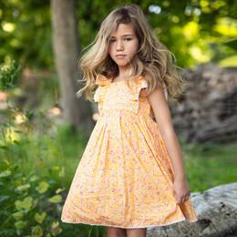 Mustard Pie Summer Glen Tangerine Dress