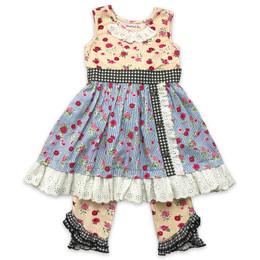 Mustard Pie  Strawberry Fields Olivia 2pc Dress & Legging Set (*Now Up To Size 12!*)