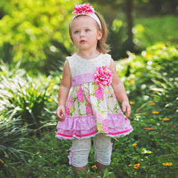 Haute Baby  Summer Blooms 2pc Swing Set