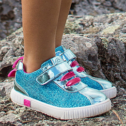 Livie & Luca Spin Shoes - Aqua Metallic (Spring 2019)