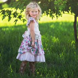 Frilly Frocks Nora Floral Heirloom Dress (*Lace Apron Sold Separately*)