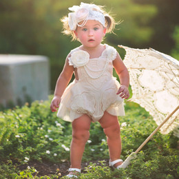 Frilly Frocks Prissy Grace Heirloom Sunsuit (*Pearl Clippie Sold Separately*)