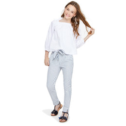 Habitual Girl Dawson Paper Bag Pant - Stripe