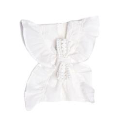 Isobella & Chloe Cotton Clouds Hard Headband - White