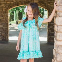 Isobella & Chloe Sweet Mint Shoulder Tie Dress - Green