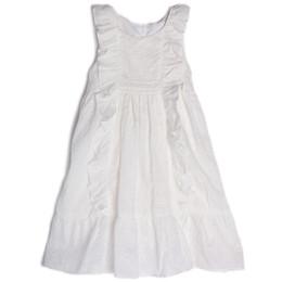 Isobella & Chloe Cotton Clouds Dress - White