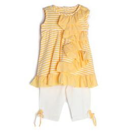 Isobella & Chloe Hello Sunshine 2pc Tunic & Legging Set - Yellow
