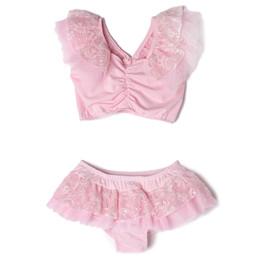 Isobella & Chloe Maddie 2pc Swimsuit - Pearl Pink