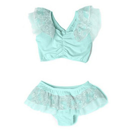 Isobella & Chloe Maddie 2pc Swimsuit - Tiffany Blue