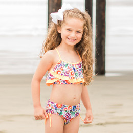 Isobella & Chloe Riviera 2pc Swimsuit - Orange