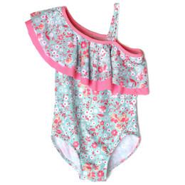 Isobella & Chloe Brianna 1pc One-Shoulder Swimsuit - Sage