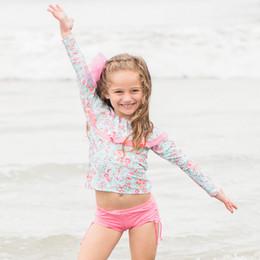 Isobella & Chloe Brianna 2pc Rashguard Swimsuit - Sage